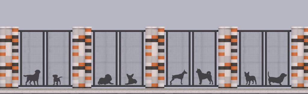 Оформлення паркану-дизайн 7