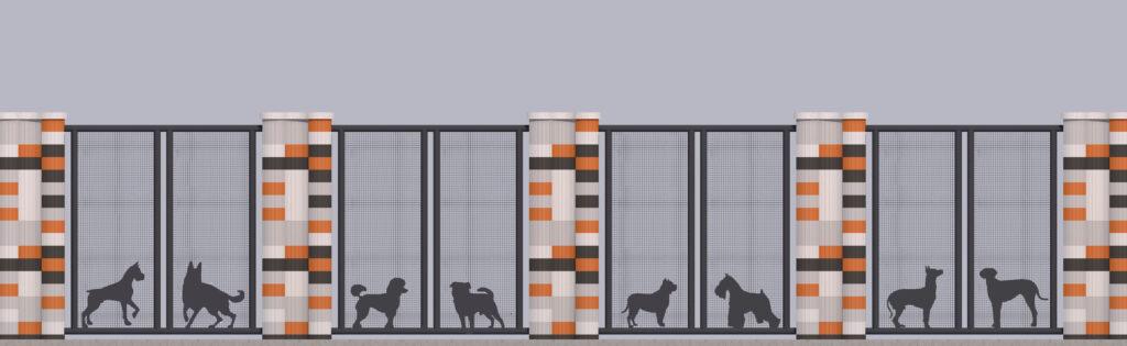 Оформлення паркану-дизайн 9
