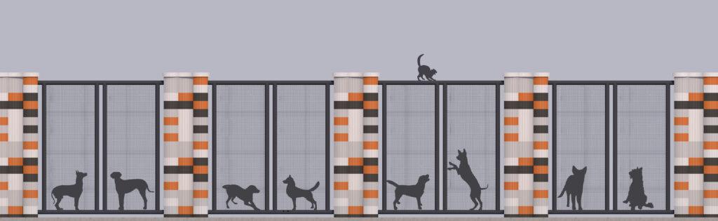 Оформлення паркану-дизайн 8