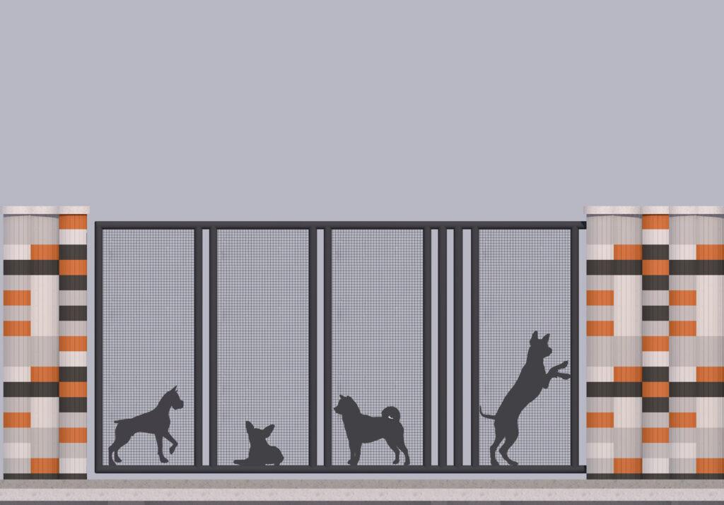Оформлення паркану-дизайн 10